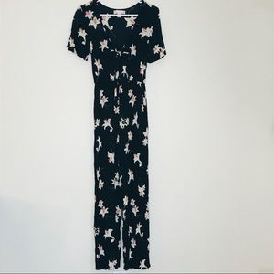BAND OF GYPSIES Floral Jumpsuit (S)